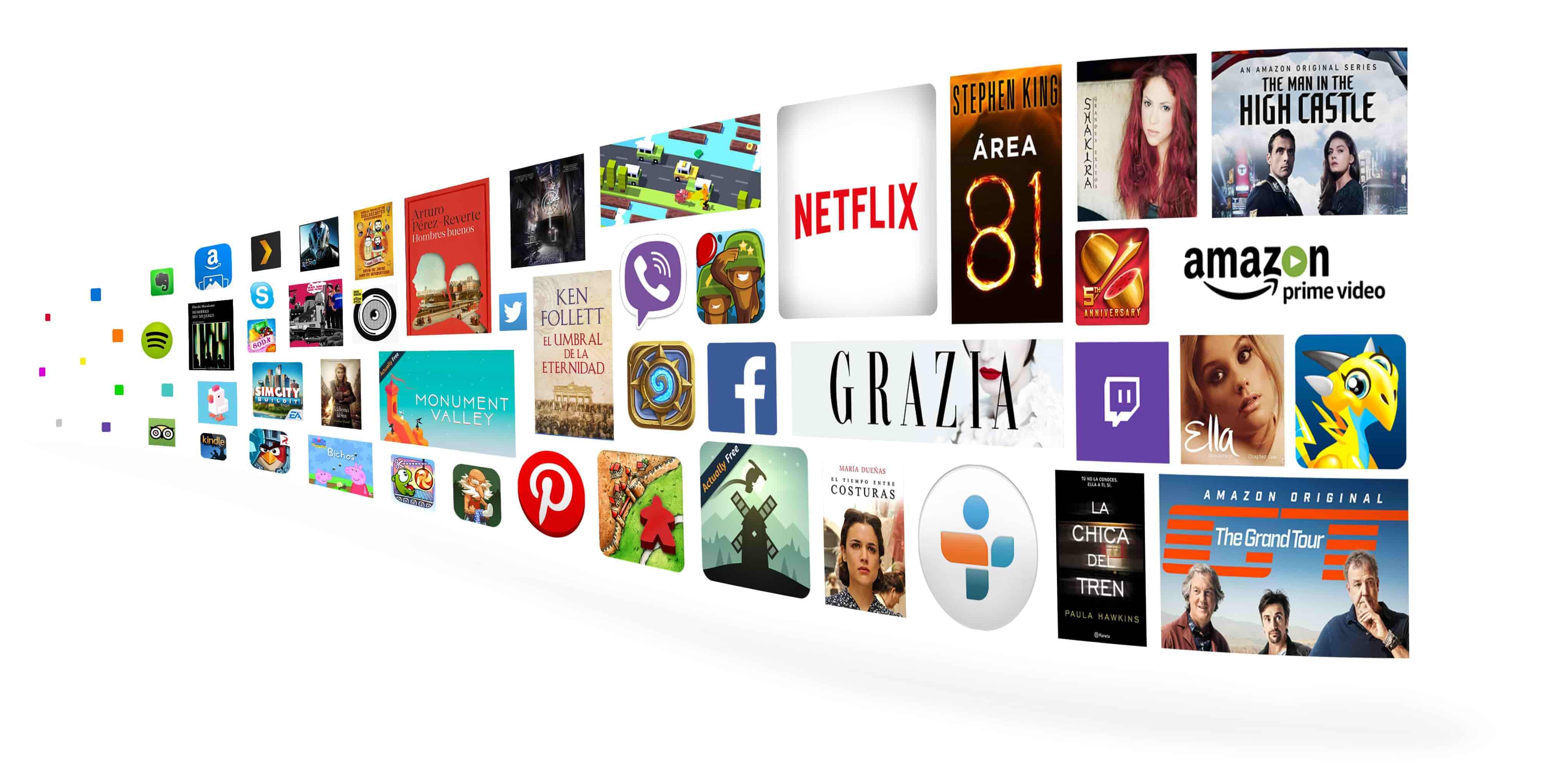 38 millones de libros, juegos, apps y canciones