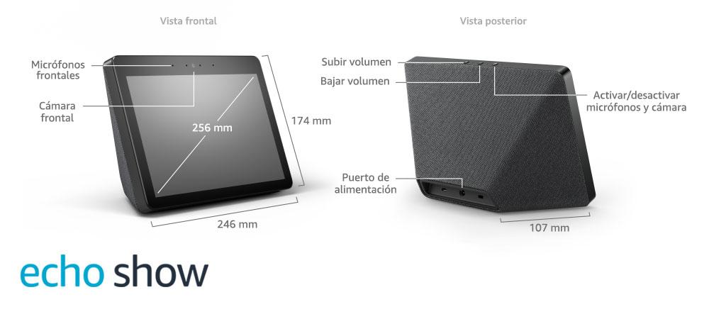 Echo Show (2.ª generación) – Sonido de alta calidad y sensacional pantalla HD de 10 pulgadas, negro