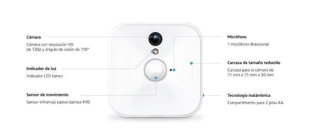 Blink Sistema de cámaras de seguridad para interiores con detección de movimiento, vídeo HD, 2 años de autonomía y almacenamiento en el Cloud - 1 ...