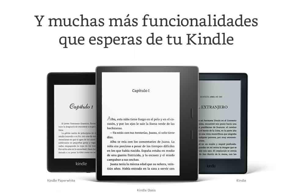 Y muchas más funcionalidades que esperas de tu Kindle
