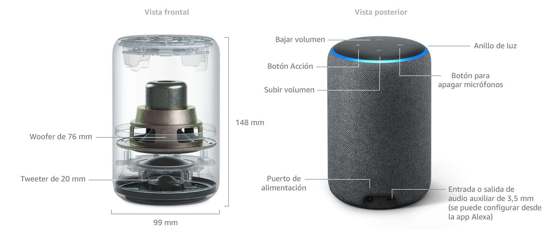 Nuevo Amazon Echo (3.ª generación) - Altavoz inteligente con Alexa ...