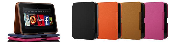 Funda de cuero con soporte para Amazon Kindle Fire HD 7