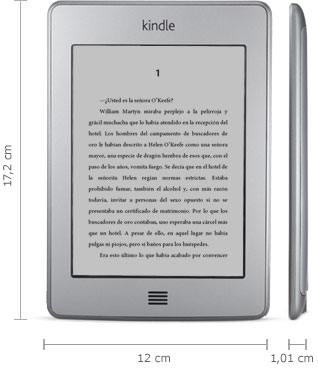 Lector Kindle: 166 mm x 114 mm x 8.7 mm