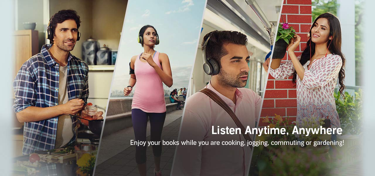 Listen Anytime, Anywhere. Enjoy your books while you are cooking, jogging, commuting or gardening!