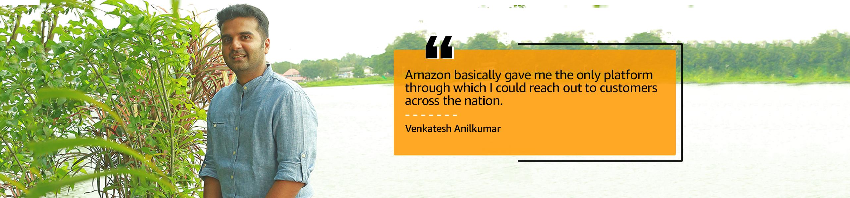 Venkatesh Anilkumar, Founder of online selling Ayurveda brand Aarshaveda