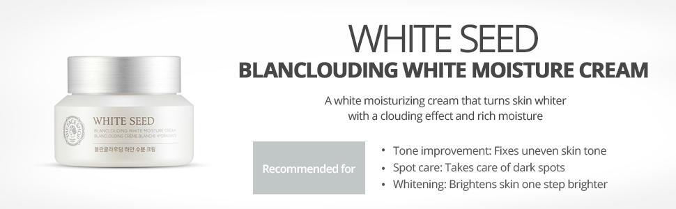 The Faceshop White Seed Blanclouding White Moisture Cream, 50ml