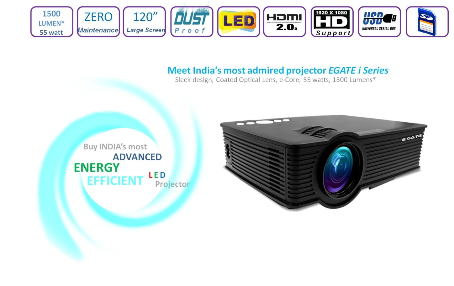 Buy Egate I9 Led Lcd Projector Online Get 40 Off Proyektor Unic Uc40 Mini View Larger