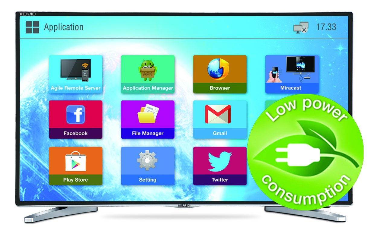 Buy mitashi mide032v02 hs 80cm 31 5 inches smart hd ready led tv online at low price in india - Led tv power consumption ...