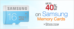 Up to 40% off on Samsung Memory Cards