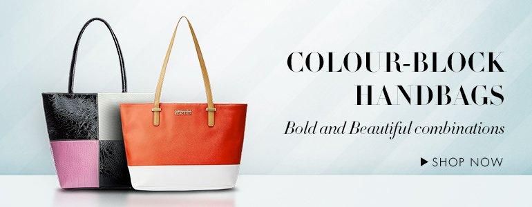 Colour Block Hand Bags