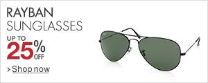Ray-ban sunglasses at 25% off