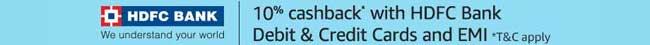 HDFC cashback offer