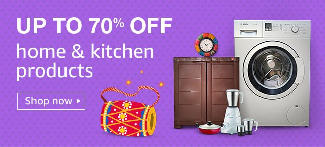 Amazon: Great Indian Festival – Up to 70% off on Home & Kitchen Products