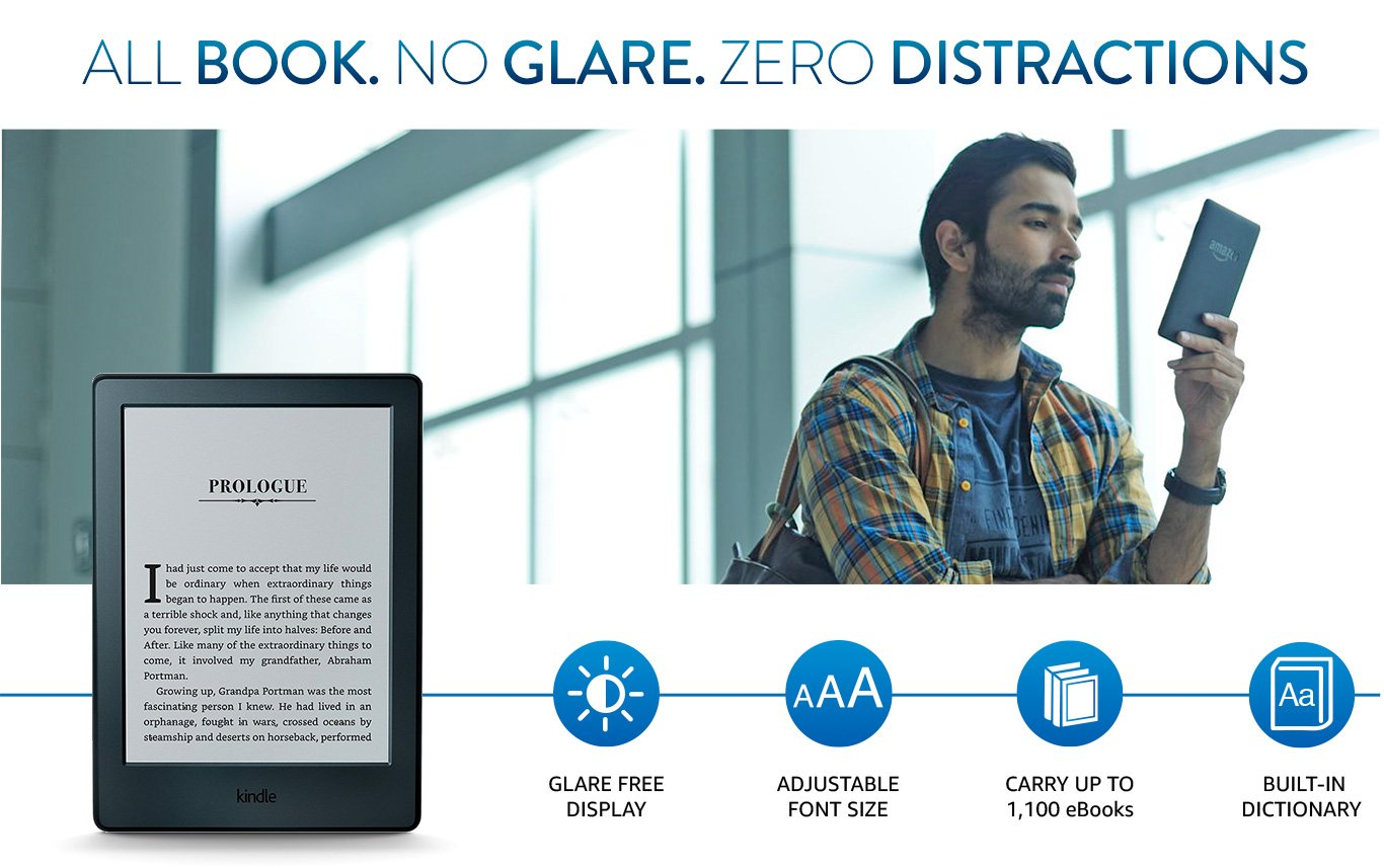 Kindle starter pack with all new kindle e reader black mrp rs t1 fandeluxe Image collections