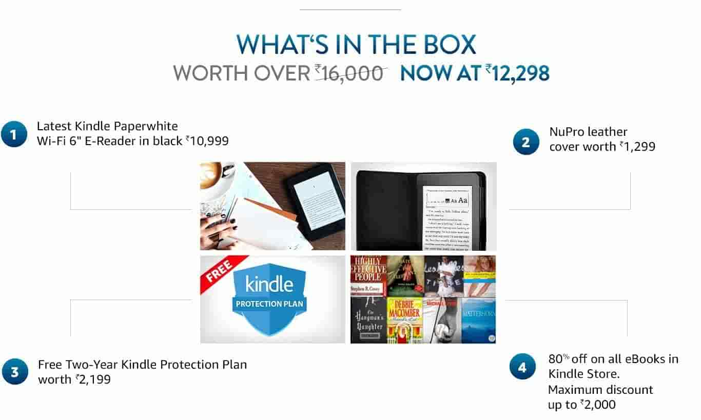 Kindle starter pack with kindle paperwhite wifi e reader black t1 fandeluxe Images