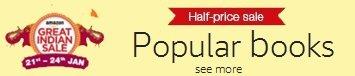 Half-Price sale on popular books