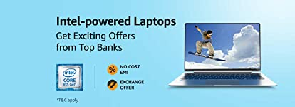 Intel-powered Laptops | Up to 6 month No cost EMI