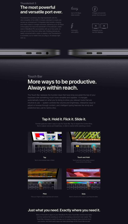 Apple MacBook Pro (13-inch Retina, 2 3GHz Quad-Core Intel Core i5, 8GB RAM,  128GB SSD) - Space Grey