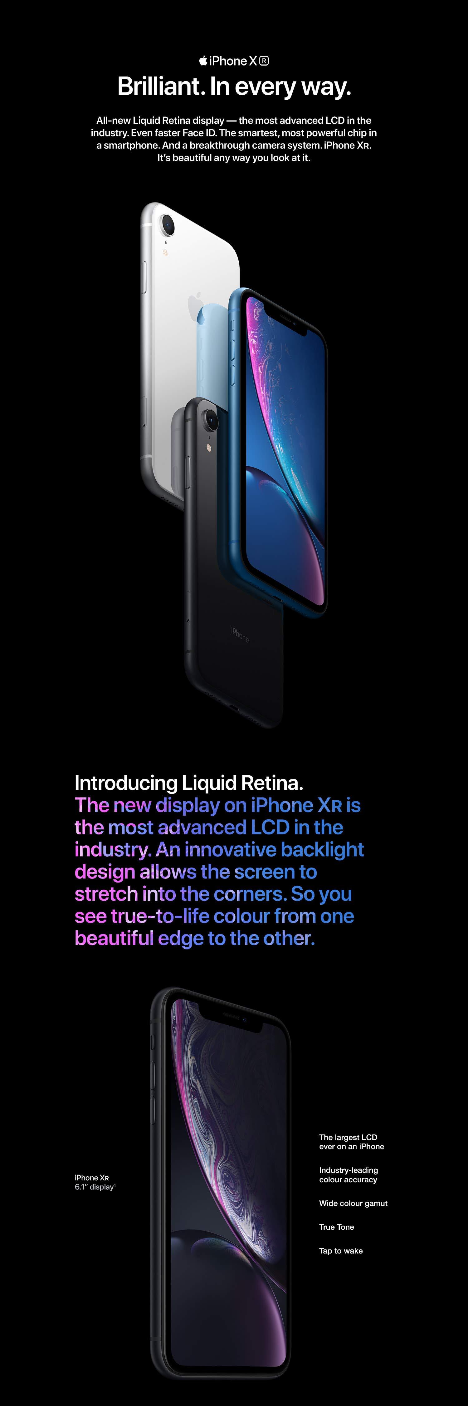 46ff1b9eed1 Apple iPhone XR (64GB) - Black: Amazon.in: Electronics