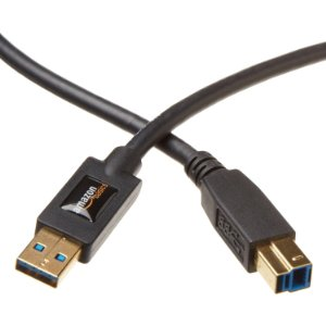 AmazonBasics USB 3.0 Cable - A-Male to B-Male - 6 Feet (1.8 Meters)