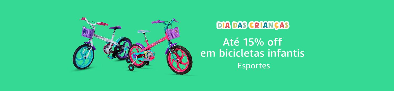 Até 15% off em bicicletas infantis