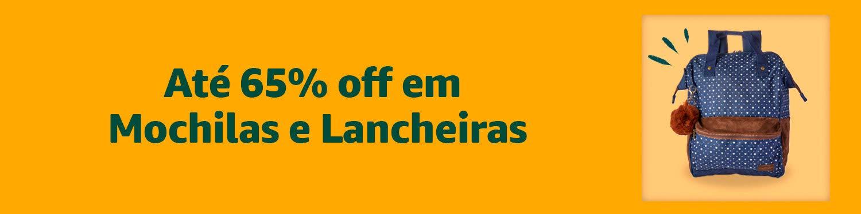 Até 65% off em Mochilas e Lancheiras