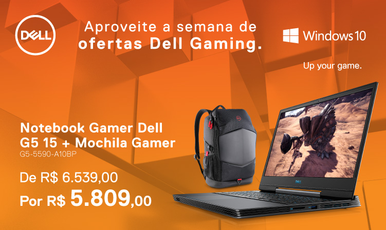 Notebook Gamer Dell G5 15 + Mochila por R$ 5809