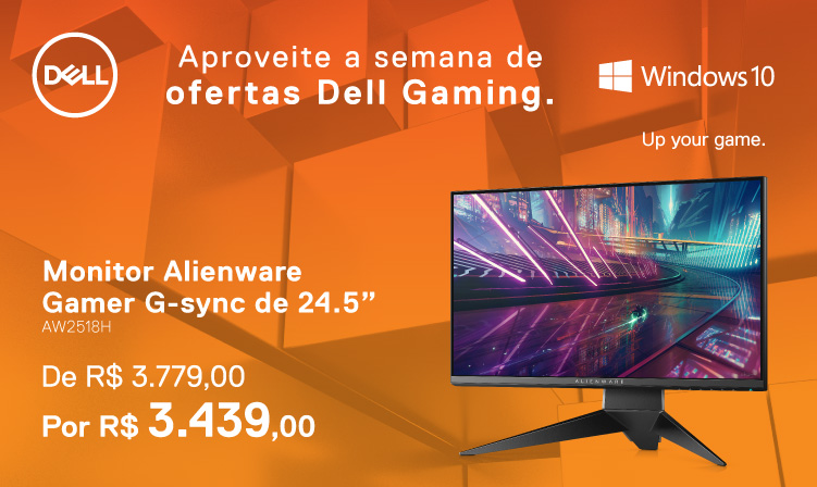Monitor Alienware Gamer G-sync de 24.5""