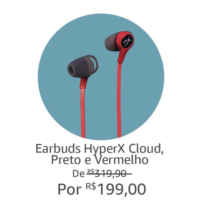Earbuds HyperX | Por R$ 199,00