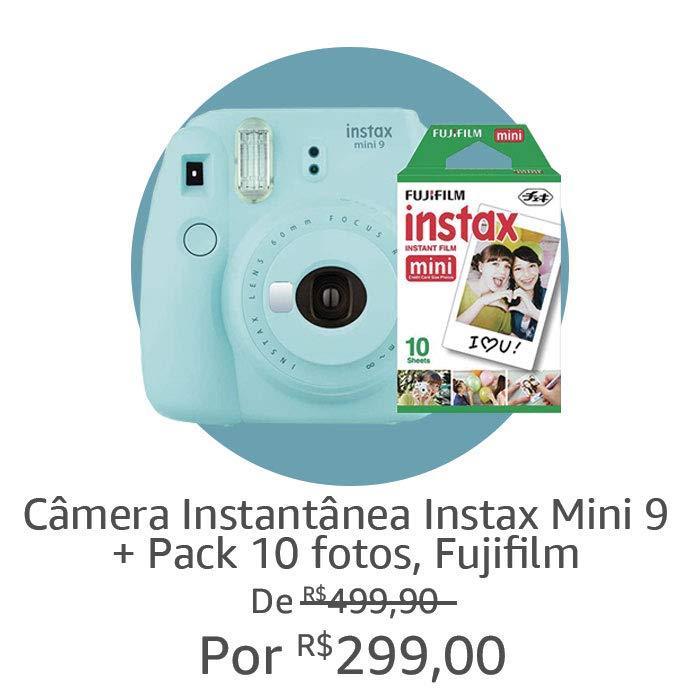 Câmera Instax + 10 Fotos | Por R$ 299,00