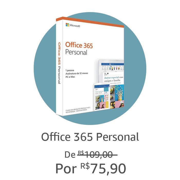 Office 365 Personal | Por R$ 75,90