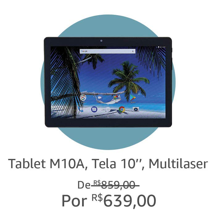 Tablet M10A, Tela 10'', Multilaser