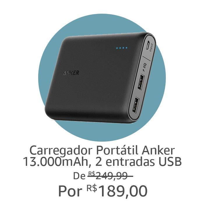 Carregador Portátil Anker | Por R$189,00