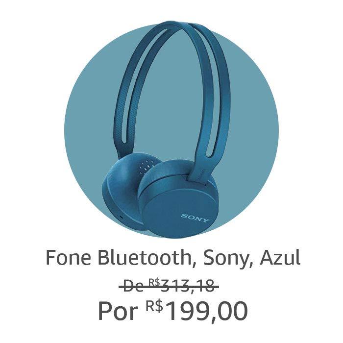 Fone Bluetooth Sony, Azul