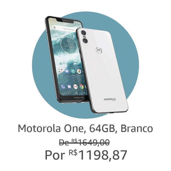 Motorola One, 64GB, Branco