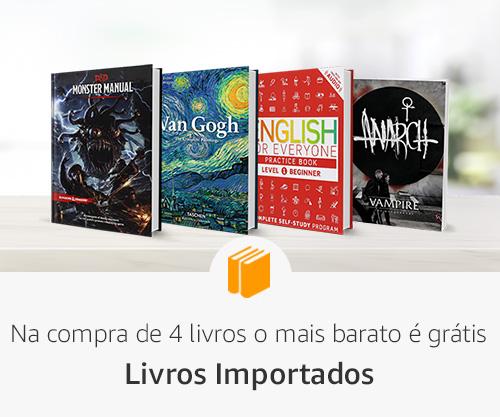 Na compra de 4 livros o mais barato é grátis