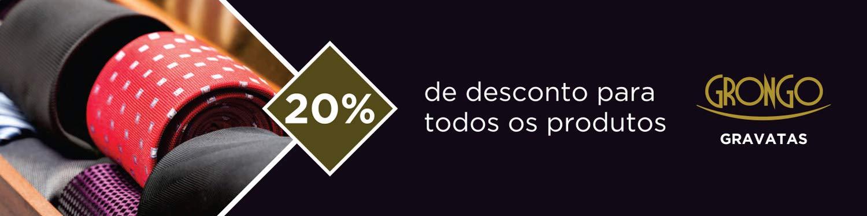20 % de desconto para todos os produtos