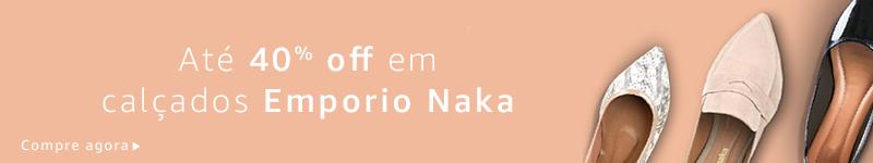 Até 40% off em seleção Emporio Naka