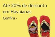 20% off em Havaianas.