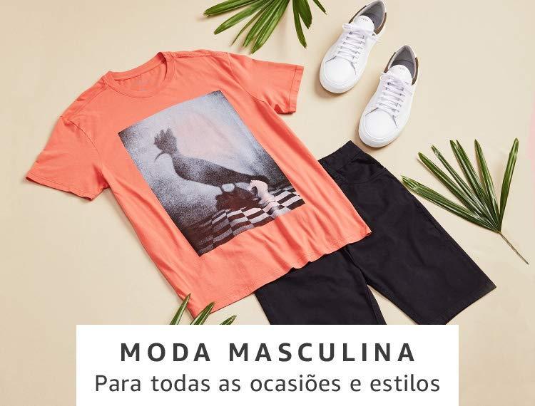 Moda Masculina na Amazon Brasil