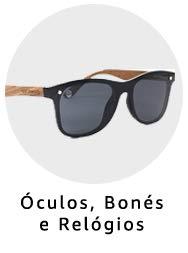 óculos, relógios e bonés