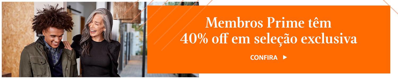 40% off para membros Prime