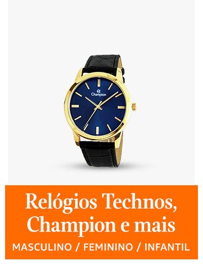 Relógios Technos, Champion e mais
