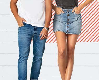 40% off em peças jeans