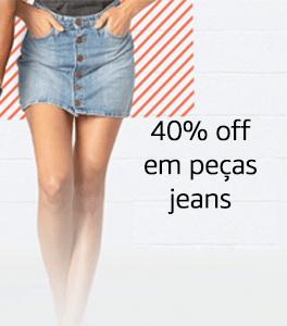 Semana do Jeans | 40% off em peças jeans