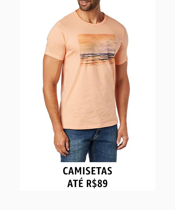 Camisetas até R$89