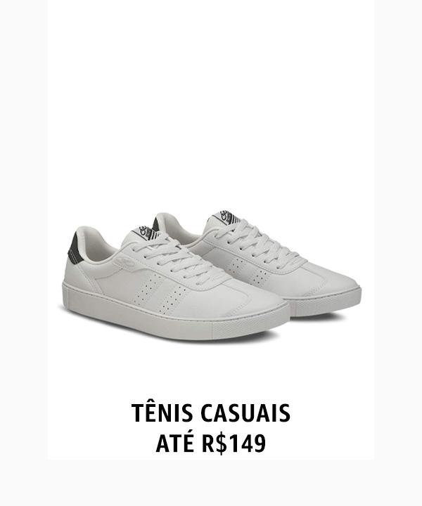 Tênis casuais até R$149
