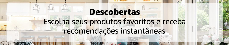 Descobertas: Escolha seus produtos favoritos e receba recomendações instantâneas.