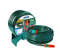 Mangueira Flex Tramontina Com Engates Rosqueados E Esguicho Em Pvc Verde 30 M