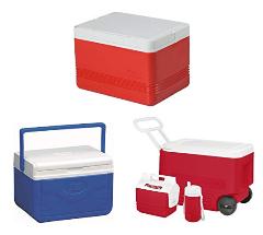 Caixa Térmica 28 QT (26,5 L), 36 Latas, Coleman, Vermelho